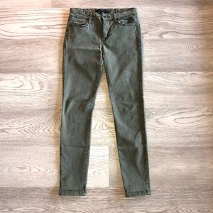 Olive green joes jeans